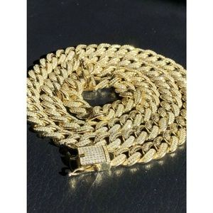 Mens Cuban Miami Link 12mm Chain 14k Gold & Solid